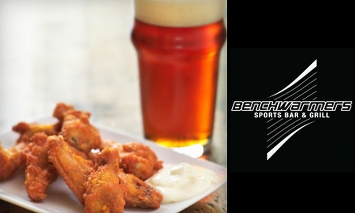 Benchwarmers Sports Bar & Grill - Central Business District: $10 for $20 of Bar Fare and Drinks at Benchwarmers Sports Bar & Grill