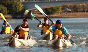 Riverlife Pty Ltd: Kayak and Abseiling Package for One ($49) or Two People ($89) at Riverlife Pty Ltd, Kangaroo Point (Up to $180 Value)