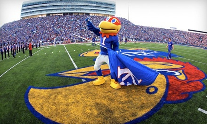 University of Kansas - Lawrence: KU Jayhawks Football Outing for One or Four at Memorial Stadium in Lawrence. Two Games Available.