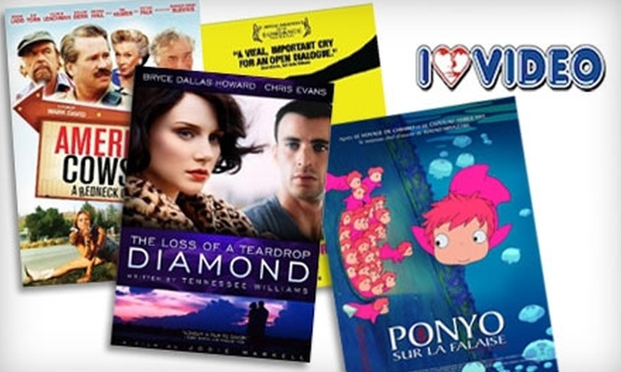 I Luv Video - Multiple Locations: $17 for 10 Movie Rentals and Membership at I Luv Video (Up to $42.50 Value)