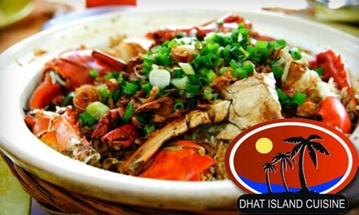 Dhat Island - Downtown Redlands: $9 for $20 Worth of Caribbean-Creole Fare at Dhat Island