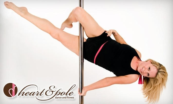 Heart & Pole Dance & Fitness - Hermosa Beach: $12 for Introductory Pole-Dance Class or Girlie Burlesque Class ($25 Value), or $175 for Private-Party Package for Up to 10 People ($350 Value)