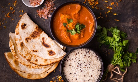 TwoCourse Indian Meal with Rice or Naan for Two or Four at Gurkha Kitchen Oxford