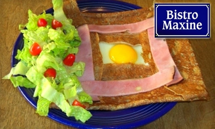 Bistro Maxine - University South: $7 for $15 Worth of Crepes, Casual Eats, and Drinks at Bistro Maxine in Palo Alto