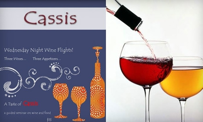 Cassis - Allegheny West: $15 for a Wednesday-Night Wine Flight for Two at Cassis