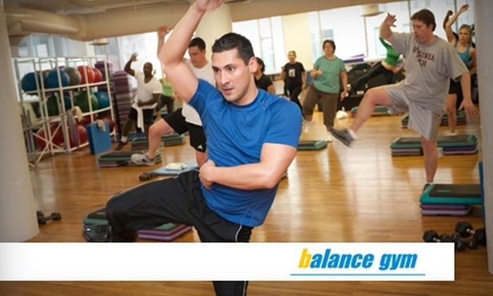 Balance Gym - Multiple Locations: $29 for a Thirty-Day Unlimited Passport Membership and Fitness Assessment to Balance Gym ($225 Value)