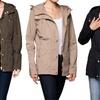 Women's Spring Hooded Utility Jacket