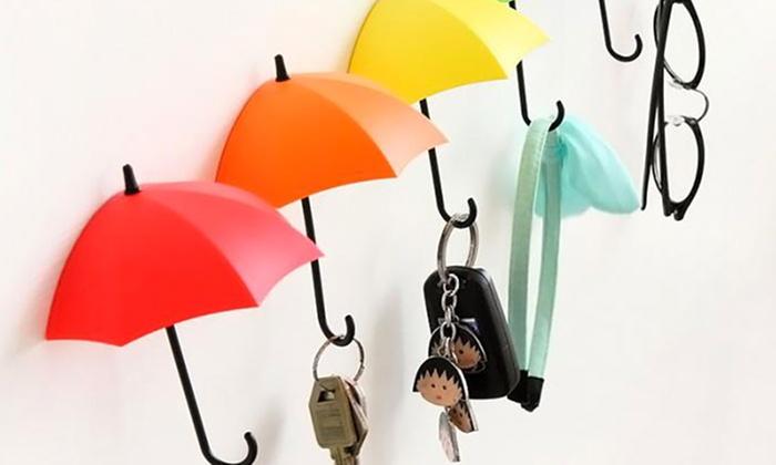 Set di 6 ganci ad ombrello