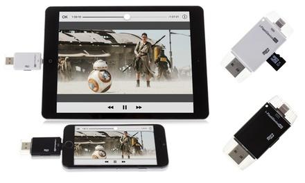 Dam I Flash Device para iPhone y iPad de 8 Pins con opción a tarjeta Micro SD desde 9,99 € (hasta 86% de descuento)