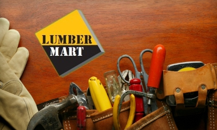 Lumbermart - Halifax: $20 for $40 Worth of Home Improvement Supplies and Services at Lumbermart