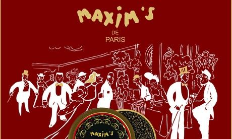 Bon d'achat donnant droit à 50 % sur tous les caviars du site Maxim's Caviar à 9 €