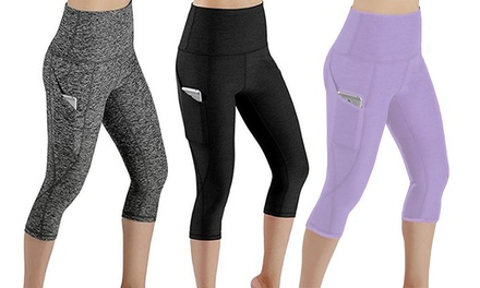 High Waist Sports Leggings with Pocket: One Pair $19 or Two Pairs $30
