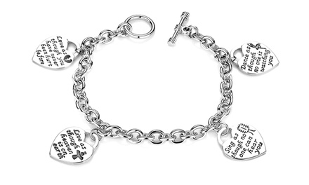 One or Two Love-Live-Sing-Dance Multi Charm Bracelet