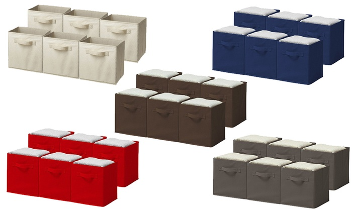 Sorbus Foldable Storage Cube Basket Bins (6-Pack) ...  sc 1 st  Groupon & Up To 60% Off on Sorbus Storage Cube Basket Bins | Groupon Goods