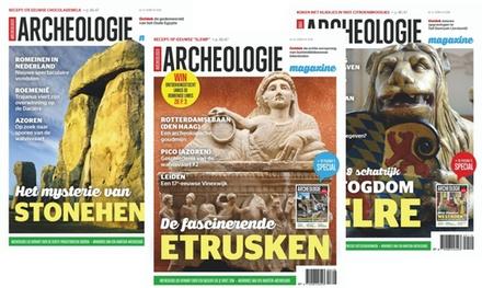 6, 9, of 12 nummers Archeologie Magazine, je abonnement stopt automatisch