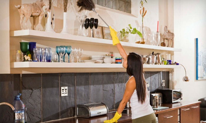 Healthy Living Cleaning Service - Downtown: $95 for Four Man Hours of Green Housecleaning from Healthy Living Cleaning Service ($200 Value)
