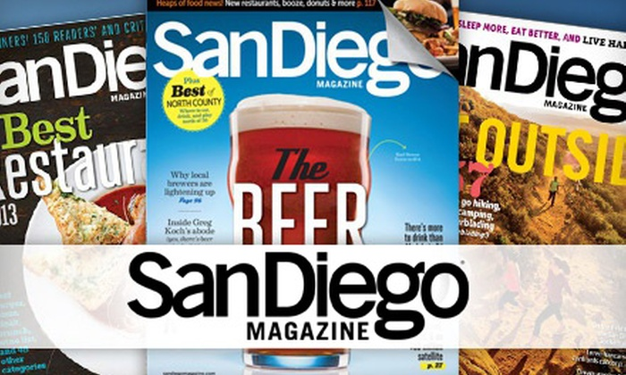 San Diego Magazine - San Diego: One-, Two-, or Three-Year Print Subscription to San Diego Magazine (Up to 56% Off)