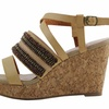 Celebrity NYC Tiffany Women's Embroidered Wedge Sandals