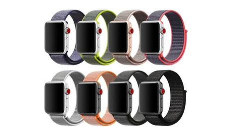 Waloo Sport Loop Breathable Nylon Weave Band for Apple Watch Series 3/2/1