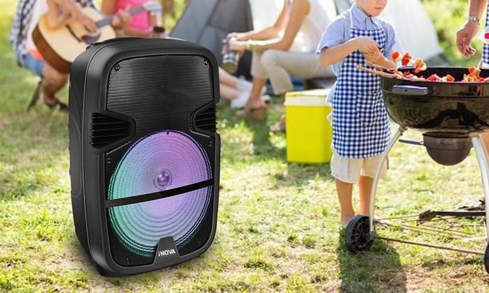 iNova Bluetooth Portable Speaker with Karaoke System | Groupon