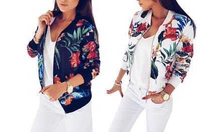 1 ou 2 vestes femme style bomber à fleurs Lena