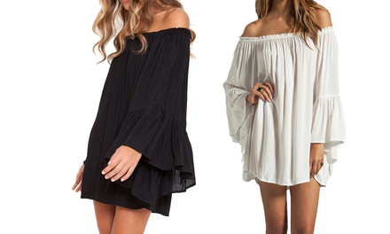1, 2 ou 3 robes courtes Lola à épaules dénudées fluides, coloris et tailles au choix dès 21,90€ livraison offerte