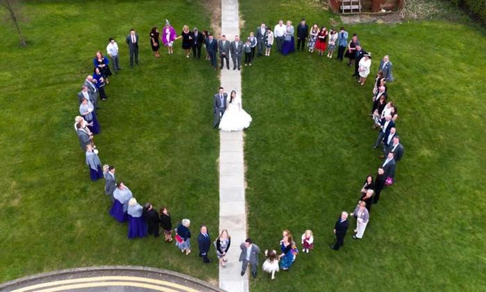 Drone Wedding Photography.Foot Print