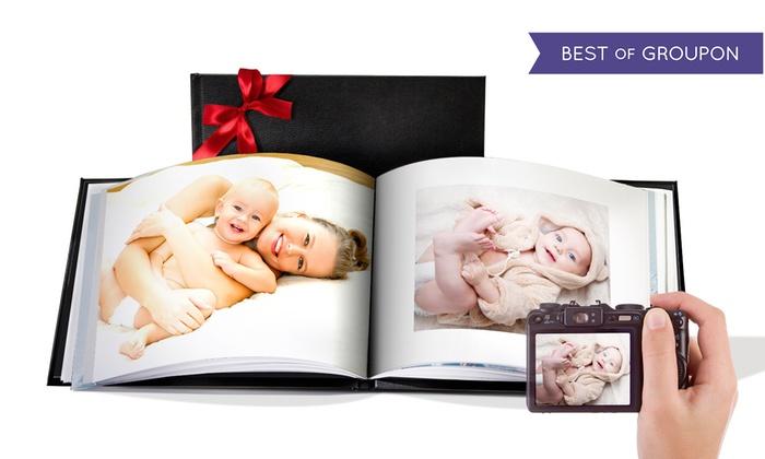 Livre photo en cuir A4 ou A5 paysage relié de 20, 40 ou 60 pages avec Printerpix dès 1 € (jusqu'à 96% de réduction)