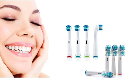 Set van 4 compatibele OralB Precision Clean of OralB Dual Head opzetborstels