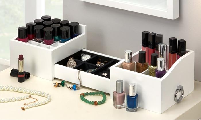 organisateur de maquillage groupon. Black Bedroom Furniture Sets. Home Design Ideas
