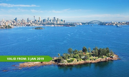 3Hr Sydney Harbour Discovery Cruise & Meal: 1 $39, 2 $78 or 4 Ppl $156 + $7 Park Entry Fee with Oz Whale Watching
