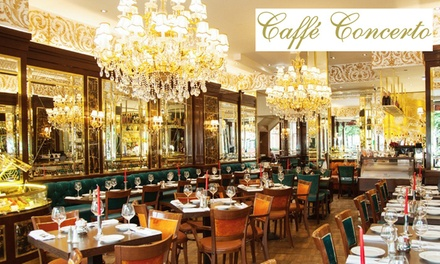 Traditional or Sparkling Afternoon Tea for Two or Four at Caffe Concerto, Multiple Locations