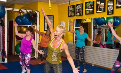 image for 10 or 20 Zumba, Kickboxing, Pilates, or Boot-Camp Classes at Knock Out Fitness (61% Off)