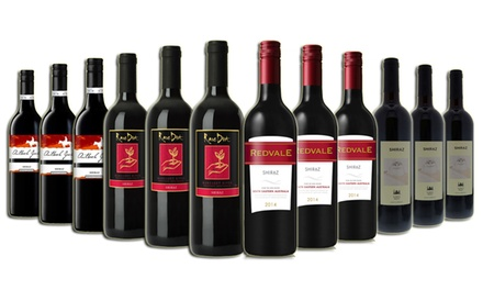 Free Shipping: $69.95 for a 12Bottle Case of Shiraz Red Wines from Margaret River and South Australia Don't Pay $179