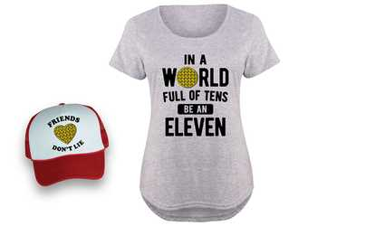 00c48295 Shop Groupon Women's Stranger Tee and Trucker Hat. Plus Sizes Available.