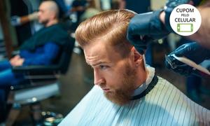 Barbearia Medrado: Cabelo + barba, selagem ou graxa (opção com todos os serviços) na Barbearia Medrado - Taguatinga