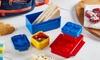 Multi-Colour Brick Lunchbox Set