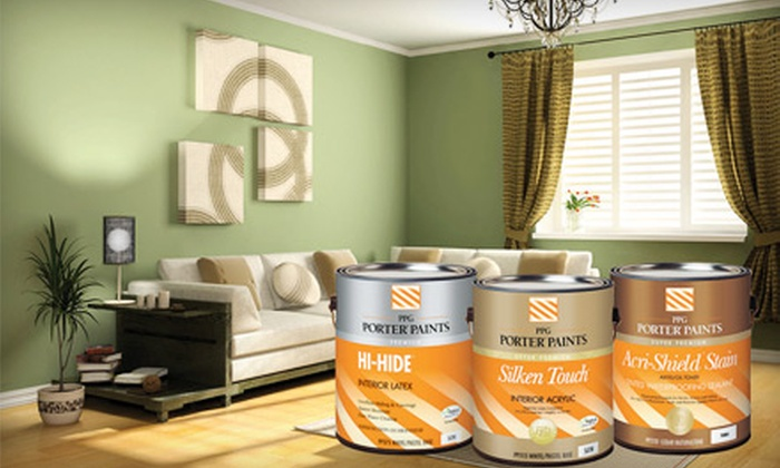 PPG Porter Paints - Multiple Locations: $30 for $60 Worth of Paints, Stains, and Primers at PPG Porter Paints