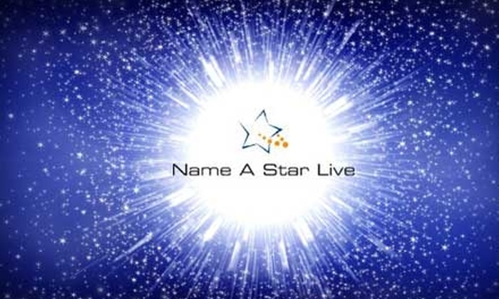 Name A Star Live: $9 for a Star Naming from Name A Star Live ($19.95 Value)