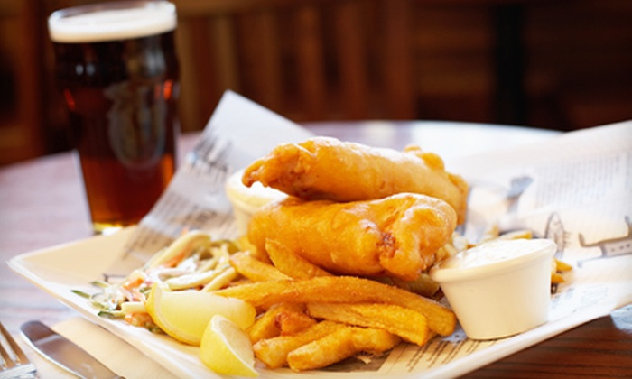 The Ice House Pub - Punta Gorda: $23 for a Traditional English Pub Meal for Two at The Ice House Pub in Punta Gorda (Up to $42.87 Value)