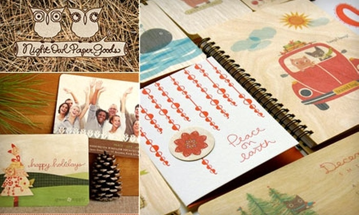 Night Owl Paper Goods: $10 for $20 Worth of Handmade Stationery and Gifts at Night Owl Paper Goods