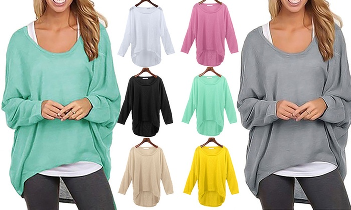 Basic Lightweight Oversized Knit Top From £6.98