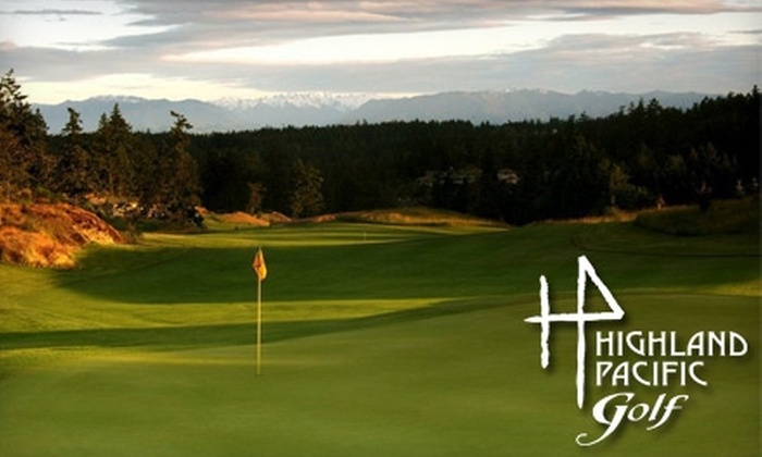 Highland Pacific Golf - Victoria: $75 for a Round of Golf for Two, a Golf Cart, and Range Balls at Highland Pacific Golf (Up to $159.50 Value)