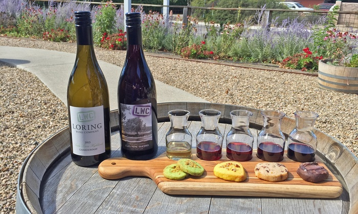Loring Wine Company - Loring Wine Company Tasting Room: Wine Tasting for Two or Four and a $20 Wine Credit at Loring Wine Company (Up to 45% Off)