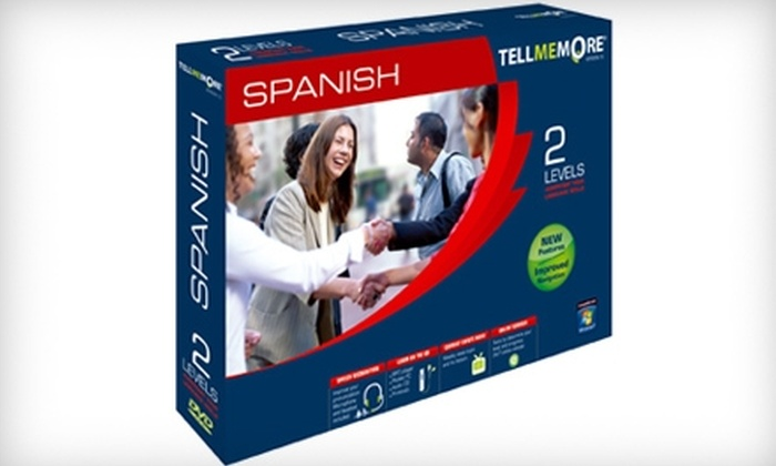 TELL ME MORE: $99 for Two Levels of Spanish Language Learning Software from Tell Me More