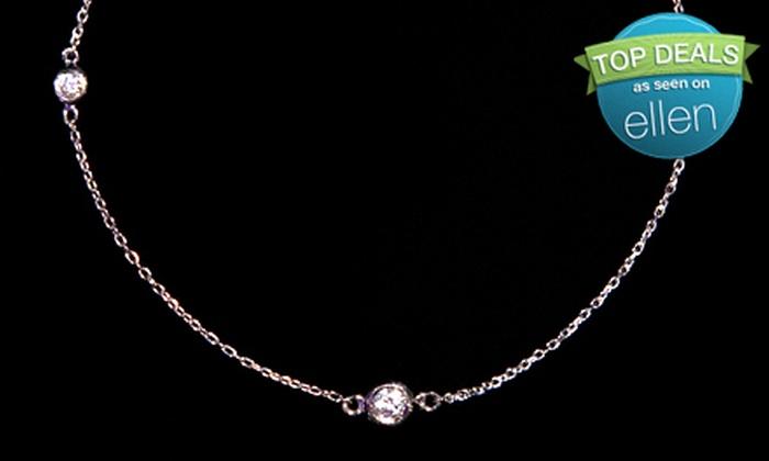Mark Awad Diamonds & Fine Jewelry - Midtown Center: Diamond Bracelet, Three-Stone Diamond Necklace, or Five-Stone Diamond Necklace with White-Gold Chain at Mark Awad Diamonds & Fine Jewelry (Up to 67% Off)