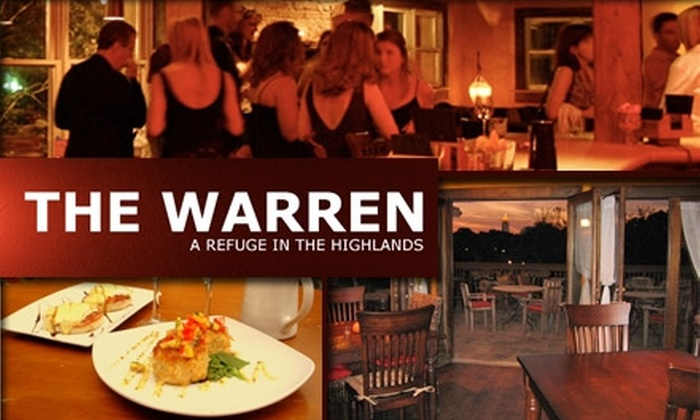 The Warren City Club - Virginia Highland: $75 for a Dinner Membership and $25 Credit for Exclusive Cuisine at The Warren City Club ($225 Value)