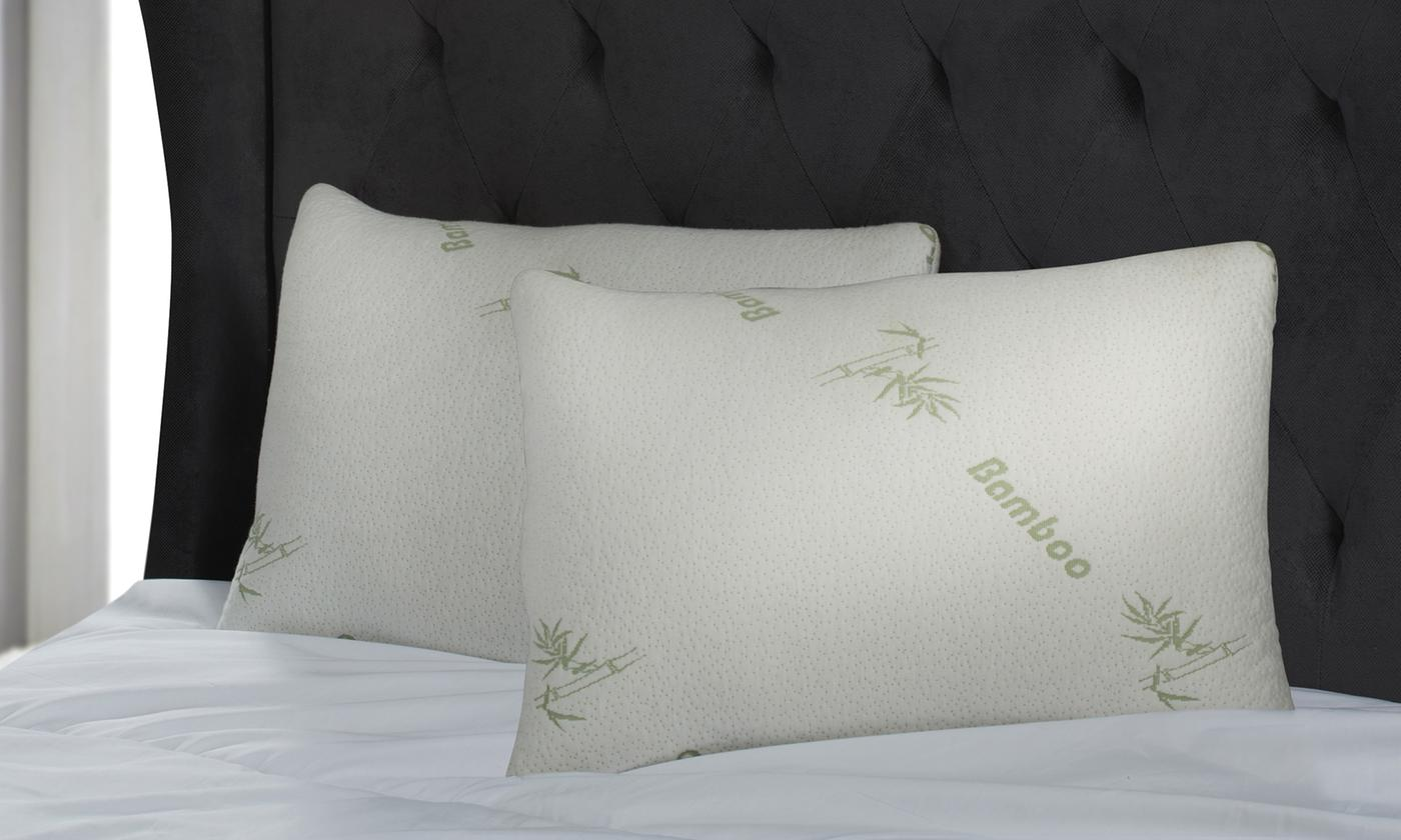 One or Two Bamboo Shredded Memory Foam Pillows