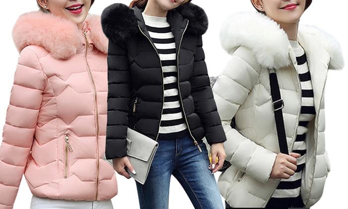 Damen-Jacke mit Kapuze   Groupon Goods cc15d406e0