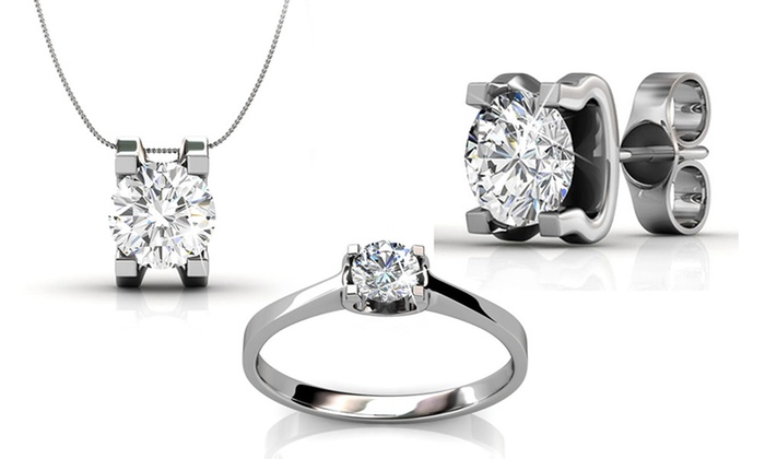 Her Jewellery: From $19 for Pendant, Earrings, Ring or Pendant and Earrings Set with Swarovski® Zirconia (Don't Pay up to $238.33)